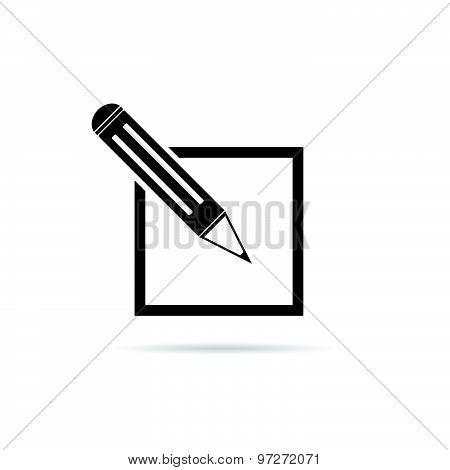 Pencil Black Vector