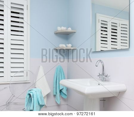 Blue Bathroom Detail