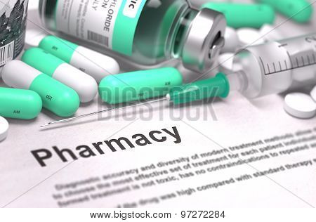 Pharmacy. Medical Concept with Blurred Background.