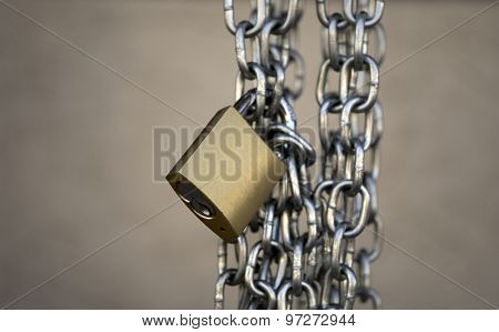 Padlock chain copy space