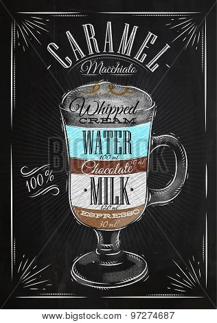 Poster Caramel Macchiato Chalk