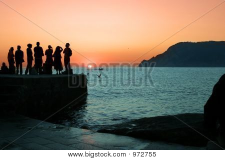 Sunset In Italy