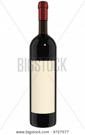 Wine Bottle - red