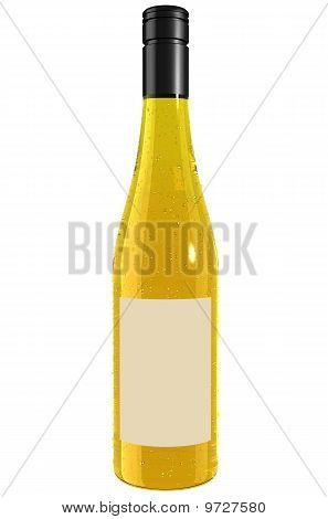 Wine Bottle - yellow