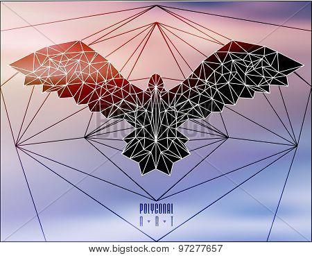 Abstract polygonal bird.