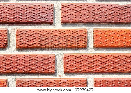 Beautiful Texture Of Red Brick Wall Thailand