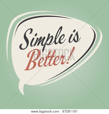 simple is better retro speech bubble