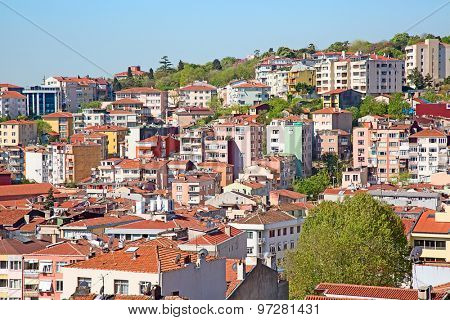 View of the modern Istanbul city