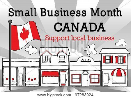 Canada, Small Business Month, Flag, Main Street