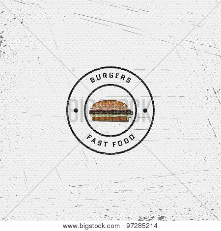 Fast food badges logos and labels for any use