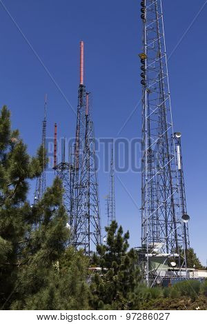 Broadcasting Antennas in Mount Wilson