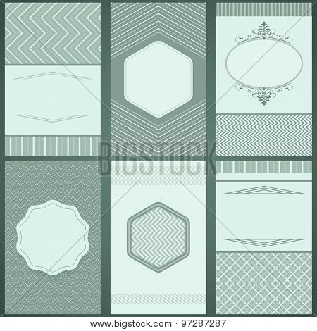 Abstract vintage frame vector templates with copy space.