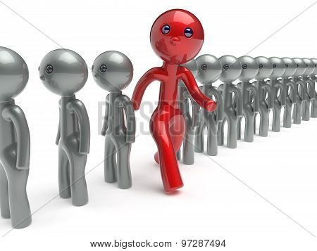 Stand Out From The Crowd Individuality Man Different Character
