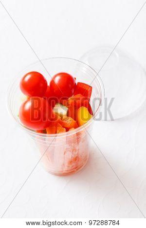 fresh vegetables for snack