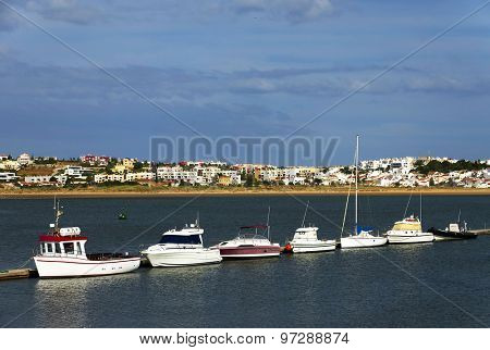 Portimao Harbor in Portugal, Algarve, Europe