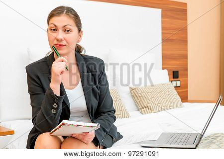 Economist Working Remotely On A Business Trip