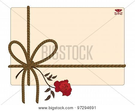 Background With Rope And Rose
