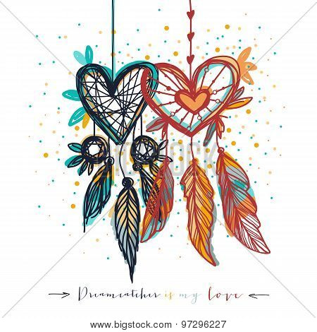 Dream catcher with love for love