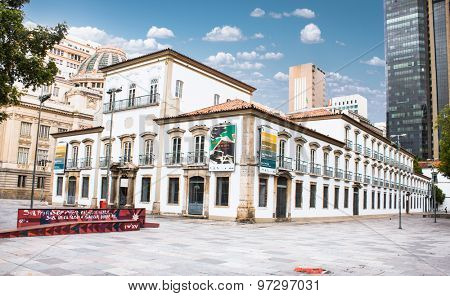 RIO DE JANEIRO - APRIL 23, 2015:  Former Imperial Palace is a historic building on April 23, 2015,  Rio de Janeiro, Brazil. . It Royal residence dating from 1754.