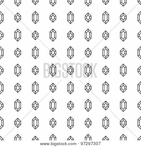 Seamless pattern with diamonds on white background