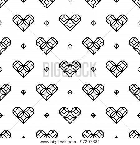 St. Valentine's Day black and white pattern