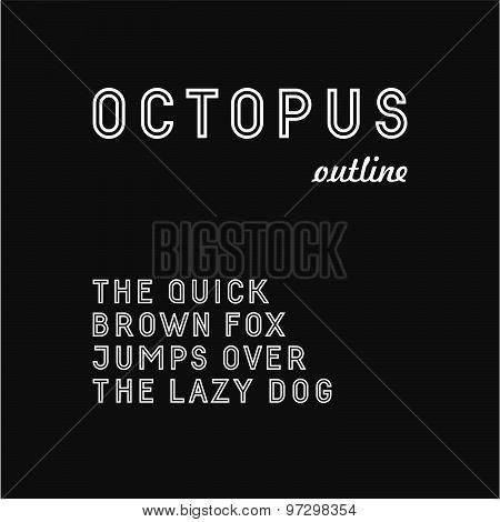 Trendy sans serif font (outlined version)