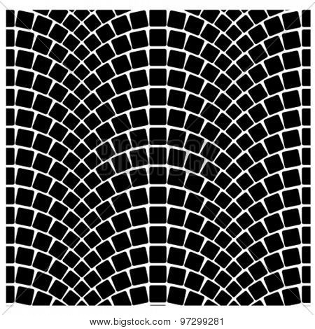 vector black seamless cobblestone pavement pattern