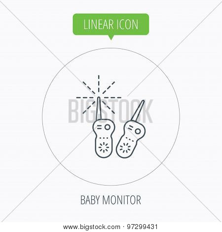 Baby monitor icon. Nanny for newborn sign.