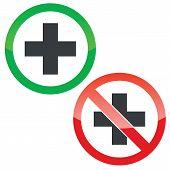 ������, ������: Add permission signs set