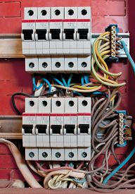 picture of breaker  - control panel with energy circuit - JPG