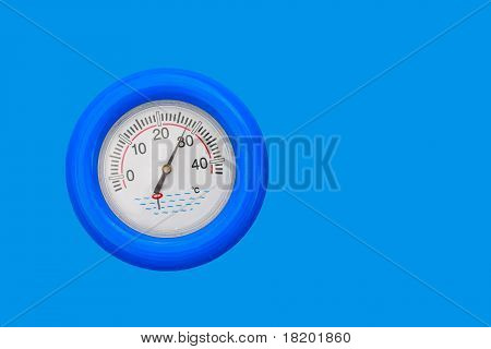 Pool Thermometer Close Up