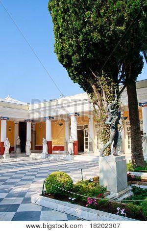 Achileon Palace, Corfu, Inner Courtyard
