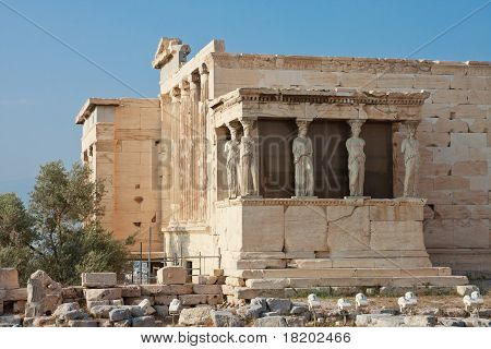 Erechtheion Temple, Acropolis, Athens, Greece