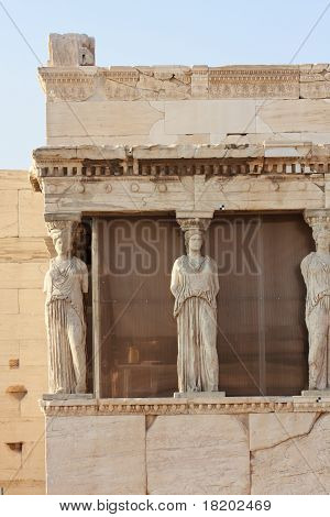 Erechtheion Temple Closeup, Acropolis, Athens, Greece