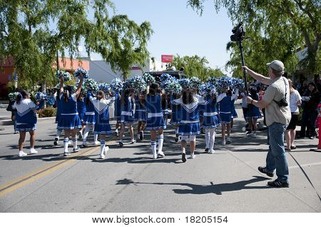 Little Girls Parading