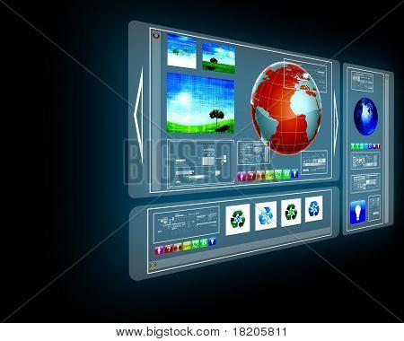 GPS navigator display