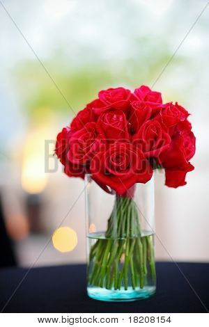 Red Rose Flower In A Vase