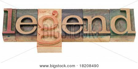 Lenda no tipo de tipografia
