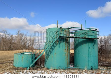 Three Oil Tanks