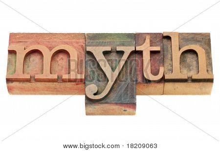 Mythos im Buchdruck-Typ