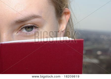 Eye and red book