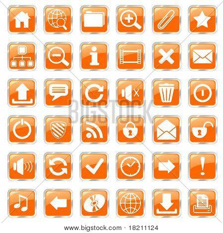 web icons orange