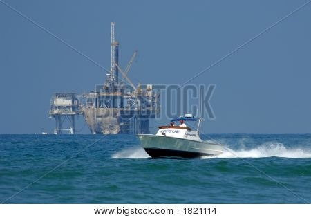 Rescue Boat On Patrol