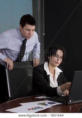 Trabajo en equipo de negocios