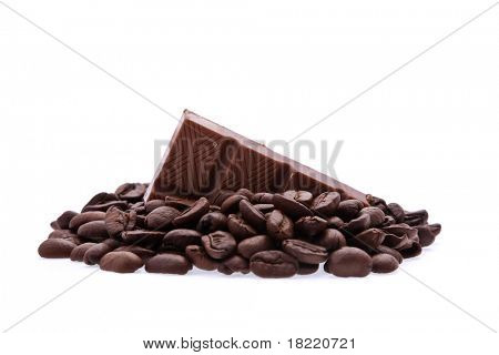 Background of aromatic roasted brown coffee