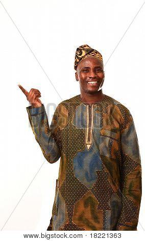 African man working