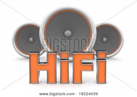 Drie sprekers - Hifi In Orange