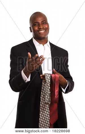 Portrait of an African American and tie