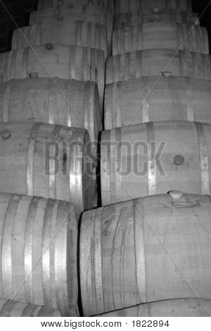 Wine Casks 1 Bw