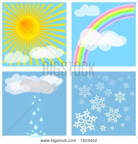 Cuatro tipos de clima